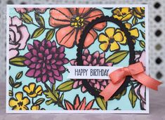 Did You Stamp Today?: Petals & Blends Birthday - Stampin' Up! Petal Passion DSP - Fab Friday 133