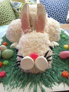 Adorable Easter Bunny Cake!