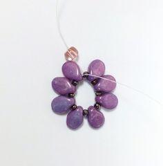 The Beading Gem's Journal: Pip Beaded Flowers on Filigree Earrings Tutorial