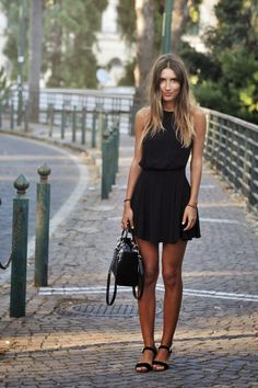 Summer black sleeveless dress. Every woman should have at least one of it in her closet. www.goachi.com