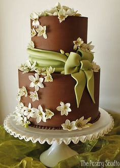 The Pastry Studio two-tier groom's cake, dark and milk chocolate icing, grapes are chocolate fondant dusted with edible gold. Fondant Wedding Cakes, Fondant Cakes, Wedding Cake Toppers, Cupcake Cakes, Cupcake Wedding, Gorgeous Cakes, Pretty Cakes, Cute Cakes, Amazing Cakes