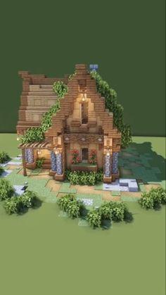 Casa Medieval Minecraft, Minecraft House Plans, Minecraft Mansion, Minecraft Houses Survival, Easy Minecraft Houses, Minecraft House Tutorials, Minecraft Castle, Minecraft House Designs, Minecraft Blueprints