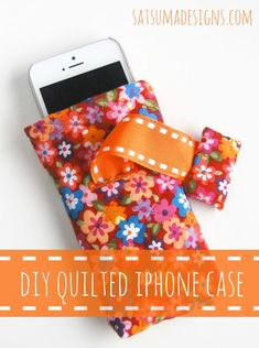 Easy DIY quilted iphone case