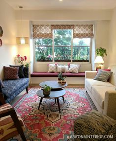 Indian Living Rooms, Boho Living Room, Living Room Decor, Living Room Designs, Cozy Living, India Home Decor, Ethnic Home Decor, Home Room Design, Home Interior Design