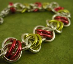CHRISTMAS Uber Twist of Fate Bracelet Kit - Custom Chainmaille -  Anodized Aluminum - Fun and Easy - Great Office Gifts. $12.00, via Etsy.