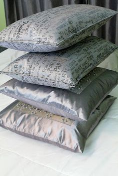 DIY pillows from placemats  new bedroom decor cheap idea love it! Why didn't I think of this??!!