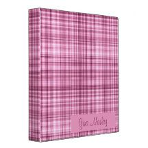 Personalize This Pink Binder created by Gina Lee Manley ©gleem