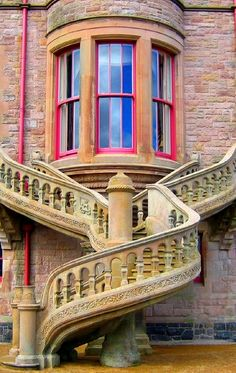 Amazing. Belfast Castle stairs and window repinned by www.smg-treppen.de #smgtreppen