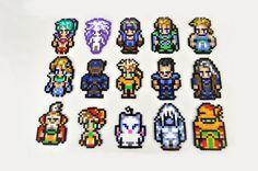Perler Final Fantasy 3 or 6 sprites Motifs Perler, Perler Patterns, Sprites, Fuse Beads, Perler Beads, Fantasy Craft, Final Fantasy Iv, Art Perle, Nerd Crafts