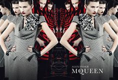 First Nations model Tara Gill face of the late Alexander Mcqueen's 2009 campaign.