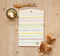 Colorful cutting board.