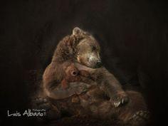 Life is Beautiful~La Vie est Belle Art D'ours, Morning Hugs, Sleepy Bear, Love Hug, Bear Art, Butterfly Wings, Brown Bear, Werewolf, Life Is Beautiful