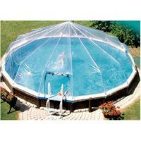 Pictures Of A Build It Yourself Pvc Dome Greenhouse Pool Cover Things To Do Pinterest