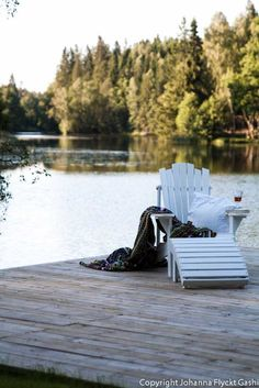 Adirondack chair, a cozy throw, a glass of wine & good company!