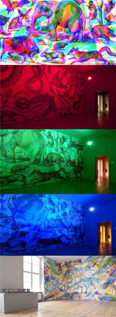RGB wallpapers by Milan-based collective Carnovsky