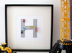 Personalised Transport Toy Letter Art for little boys room