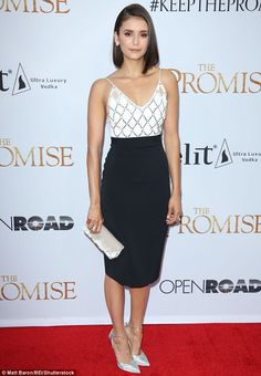 Glamour gal! On Wednesday, Nina Dobrev, 28, did not disappoint when she stepped out at The Promise premiere in LA