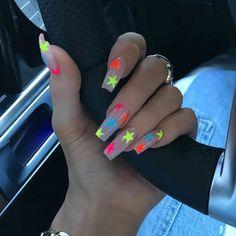 Nails 520165825711763862 - 6 Summer Nail Art Ideas for 2019 – Summer Nail Designs Cute Acrylic Nail Designs, Simple Acrylic Nails, Best Acrylic Nails, Summer Acrylic Nails, Dope Nail Designs, Star Nail Designs, Colorful Nails, Acrylic Nail Art, Art Designs