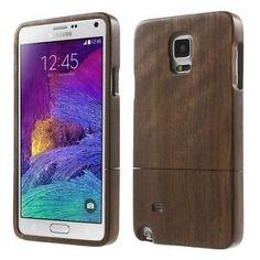 Samsung Galaxy Note 4 Hard Case Echt Holz Wood Nussbaum Schutz Hülle Cover