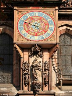 15th century cathedral clock in   Strasbourg, France that still keeps time.