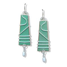 Saraband earrings are handcrafted from a salvaged historic Frank Lloyd Wright  copper roof. A portion of proceeds go to help house the homeless. $46 Available at Design With Benefits