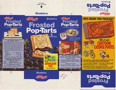 Kellogg's Pop-Tarts Blueberry - Cartoon License Plates - Box Flat - 1972 by JasonLiebig, via Flickr
