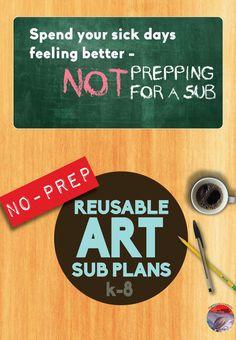 No-prep reusable art plans!