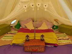 Bell tent glamped