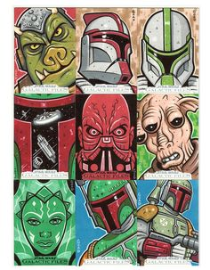 Star Wars sketch cards 6 by JasonGoad on DeviantArt