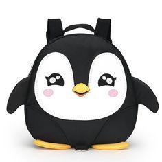 Kindergarten Children Cartoon Penguin School Bags 2017 Kids Mini Backpack Waterproof Schoolbags Satchel for boys and girls