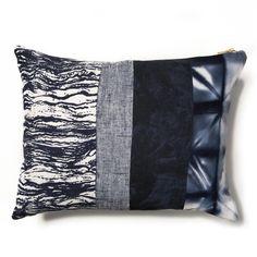 Navy Patchwork Pillow