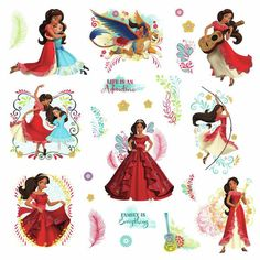 Check out Disney Elena of Avalor Peel and Stick Wall Decals | Elena of Avalor tableware & décor for your next party from Birthday in a Box from Birthday In A Box