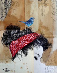 "Saatchi Art Artist LOUI JOVER; Drawing, ""post card"" #art"