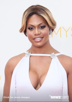 Actress Laverne Cox attends the 66th Annual Primetime Emmy Awards at the Nokia Theatre L.A. Live on August 25, 2014 in Los Angeles, California.  (Photo by David Livingston/Getty Images)  --  Access, discover and share millions of images at *newzcard.com.