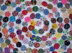 Wedding Fabric Flowers YoYo Bright Rainbow Birthday Party Rosette Bead Hair Clip Shower Bow Quilt Scrapbook Wholesale Handmade 1/2 Off. $9.50, via Etsy.