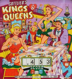 Kings & Queens pinball backglass #pinballwizard #pinballbackglass