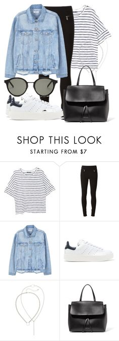 """""""Untitled #3975"""" by beatrizvilar on Polyvore featuring MANGO, Givenchy, adidas Originals, Mansur Gavriel and Yves Saint Laurent"""