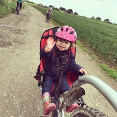 Lucy's first ride in the Weehoo today with a short blast from home... Think she liked it!   #Weehoo rideweehoo.com