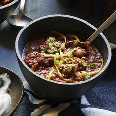Smoky Beef-and-Bacon Chili | MyRecipes.com