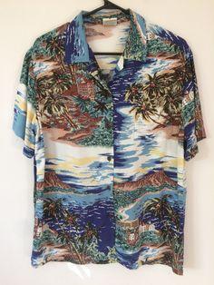 1806e74d VINTAGE Go Barefoot sz M women's or XS men's Rayon Classic Hawaiian Aloha  shirt Reyn Spooner Paradise Found Sun Surf Avanti