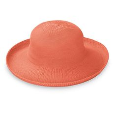 """The straw hat goes modern with the lightweight, washable Victoria. 3-1/2"""" shaped brim. An internal drawstring adjusts fit. Packs flat. 100% poly-straw. Handwash"""