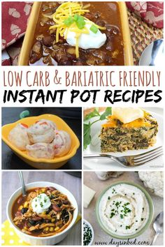 Here are some of my favourite bariatric friendly recipes that can be cooked in the Instant pot or pressure cooker. Bariatric recipes don't need to be High Protein Recipes, Low Carb Recipes, Healthy Recipes, Healthy Foods, Instant Pot, Pureed Food Recipes, Cooking Recipes, Soup Recipes, Cooking Food