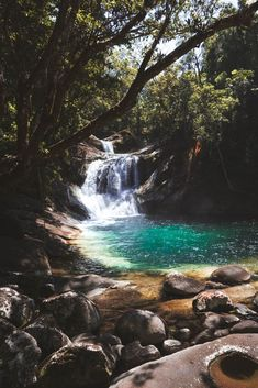 Josephine Falls is a multi-level waterfall which flows through the rainforest creeks of the Wooroonoran National Park. Holiday Places, Holiday Destinations, Travel Destinations, Camping Aesthetic, Travel Aesthetic, Coast Australia, Australia Travel, Cairns, Places To Travel