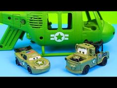 Disney Pixar Cars Army Lightning McQueen & Mater have their fitrst mission save Gil Just4fun290 - YouTube