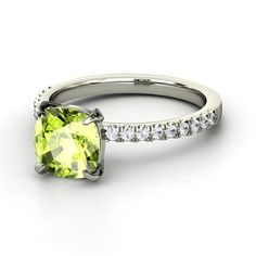 Peridots are gorgeous. I'd LOVE this as an anniversary gift. (Hint, hint- Those who know P should let him know, lol.)