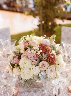Pink and Ivory Centerpiece | photography by http://carrie-patterson.squarespace.com/