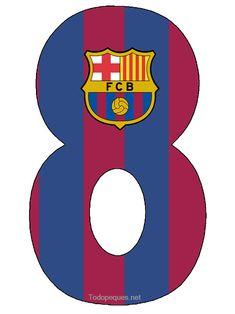 Numeros Club Barcelona para Imprimir Gratis | Todo Peques Barcelona Soccer Party, Barcelona Cake, Baby Boy Birthday, Boy Birthday Parties, Fc Barcelona Wallpapers, Messi And Ronaldo, Diy Envelope, Birthday Numbers, Birthday