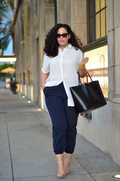 chic trouser style #plussize