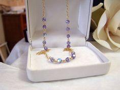 Gold Filled & Swarovski Necklace Handmade by ExquisiteStudios