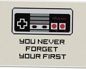 You Never Forget - Nintendo - Cross-stitch pattern.. OMG I want to make all of these!!! :)